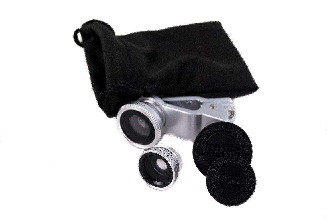 Fisheye objektīvs piemērots daudziem viedtālruņiem, Samsung, iPhone, HTC, Nokia, Huawei, Sony u.c.