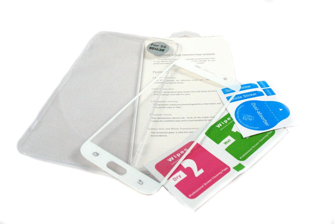Krāsains aizsargstikls izgatavots no augstas kvalitātes materiāliem, piemērots Samsung Galaxy S6