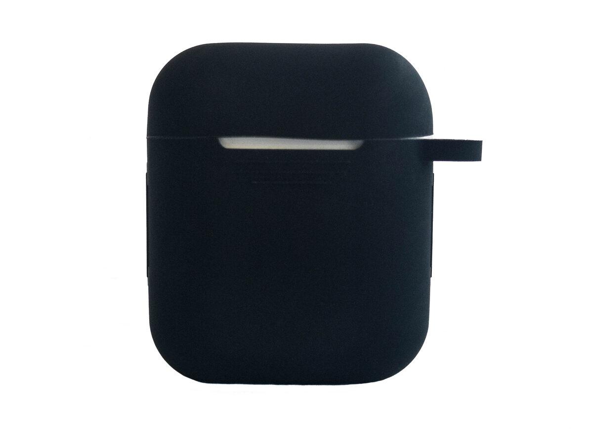 TCM Airpods 2 vāciņš ♫ 1 gab. No mīksta silikona izgatavots aizsargapvalks priekš AirPods + karabīnes turētājs drošai ceļošanai