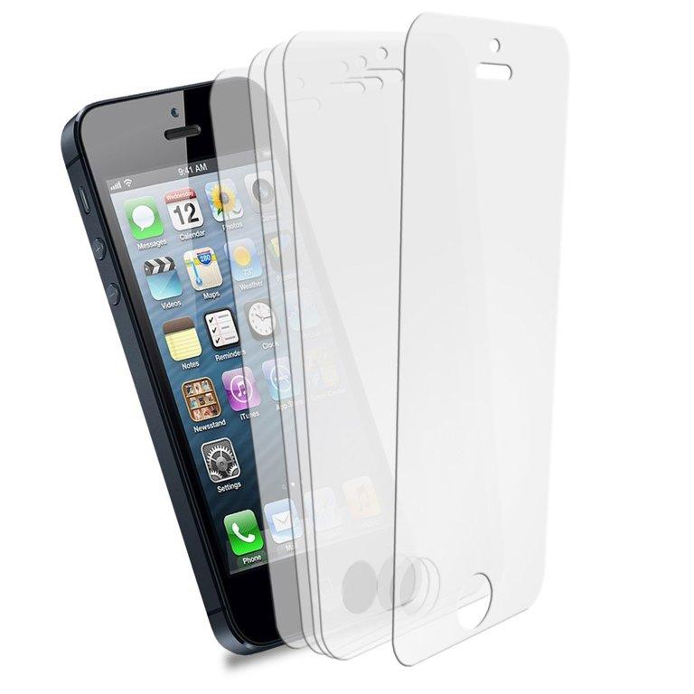 Ekrāna aizsargs no augstas kvalitātes materiāliem, piemērots iPhone 5/5s