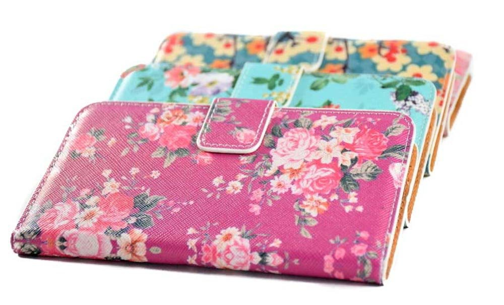 Flover flip leather case with card holder for Samsung Galaxy S5