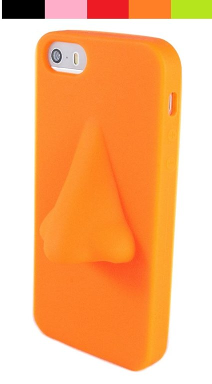 Silicone nose phone case for iPhone 5/5s