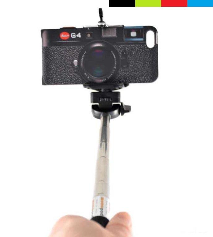 Selfie stick visiem viedtālruņiem, kā arī der digitālajām kamerām ar 1/4 collu skrūvi